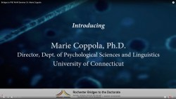 Bridges to PhD WoW Seminar: Dr. Marie Coppola
