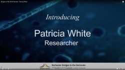 Bridges to PhD WoW Seminar : Patricia White
