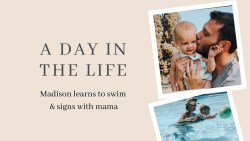 Day in the Life with a 12 Month Old   Deaf and Hearing Family
