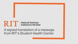 A message from RIT's Student Health Center