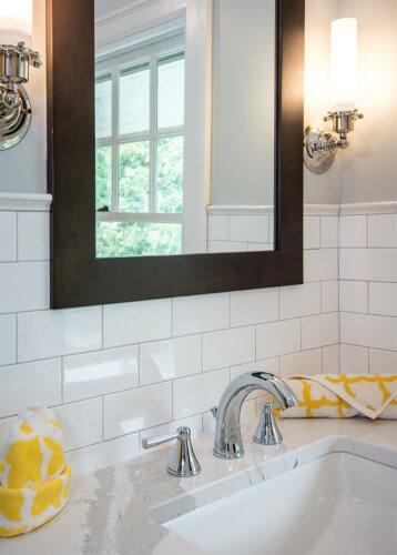 Original Flooring In A Vintage Bathroom Inspires Penny Round Tile Floor