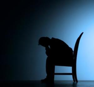 silhouette of Sad Man