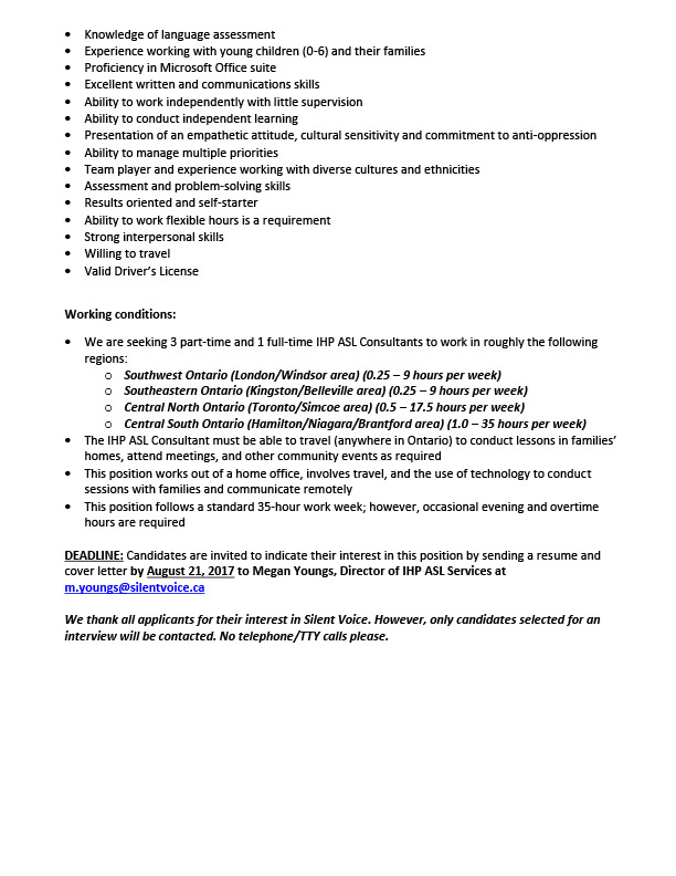 IHP ASL Services Job Posting - Page 2
