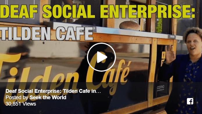 Deaf Social Enterprise: Tilden Cafe in Fremont, California Image