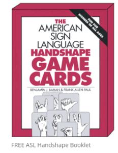 ASL Handshape Game Cards Image