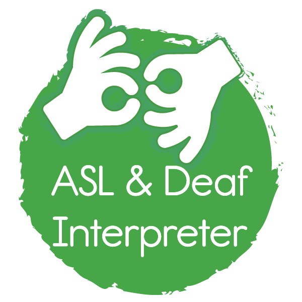 Interpreter icon with text