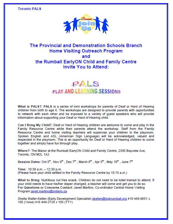 TORONTO- PALS Mini Parent Workshops - Silent Voice