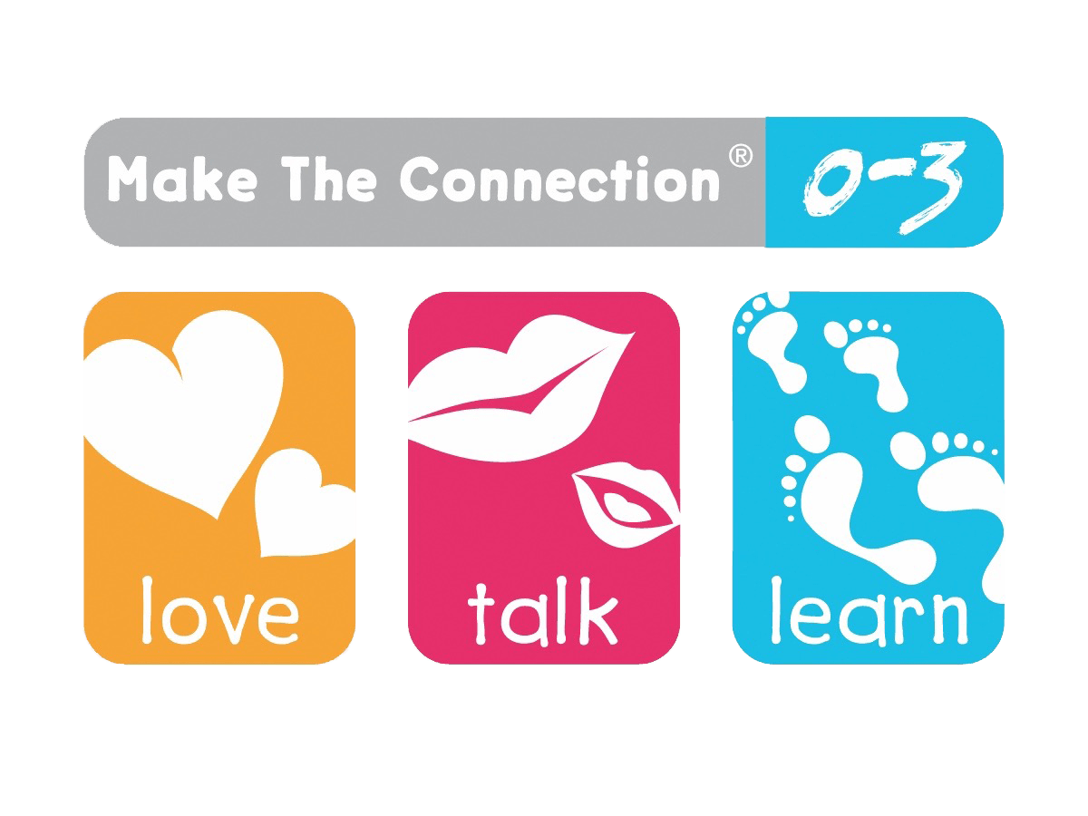 Make the Connection Logo: Ages 0-3 Love, Talk, Learn