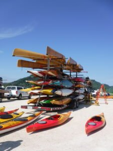 mega kayak trailer