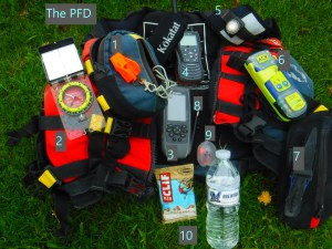 The PFD with safety items