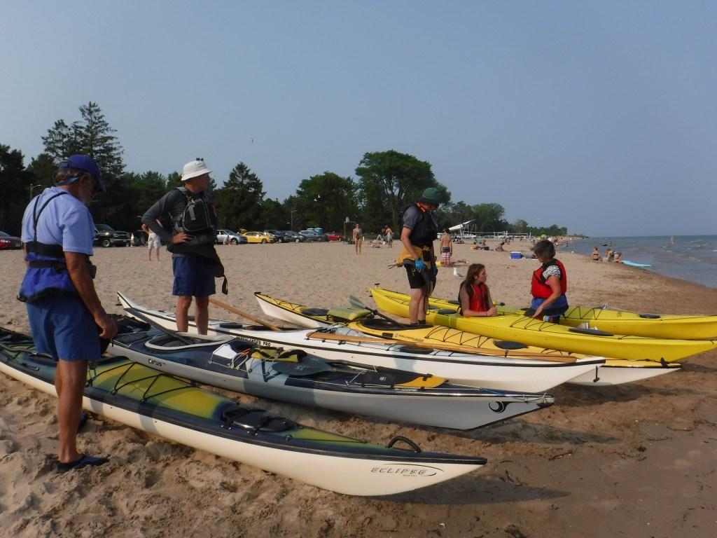 sea kayaking on Lake Michigan