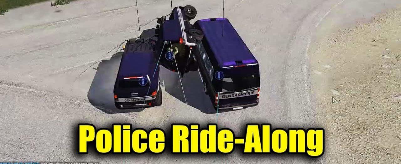Police Ride Along   Arma 3 Random Moments