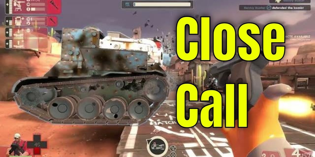 Super Close Call In Man VS Machine – Team Fortress 2