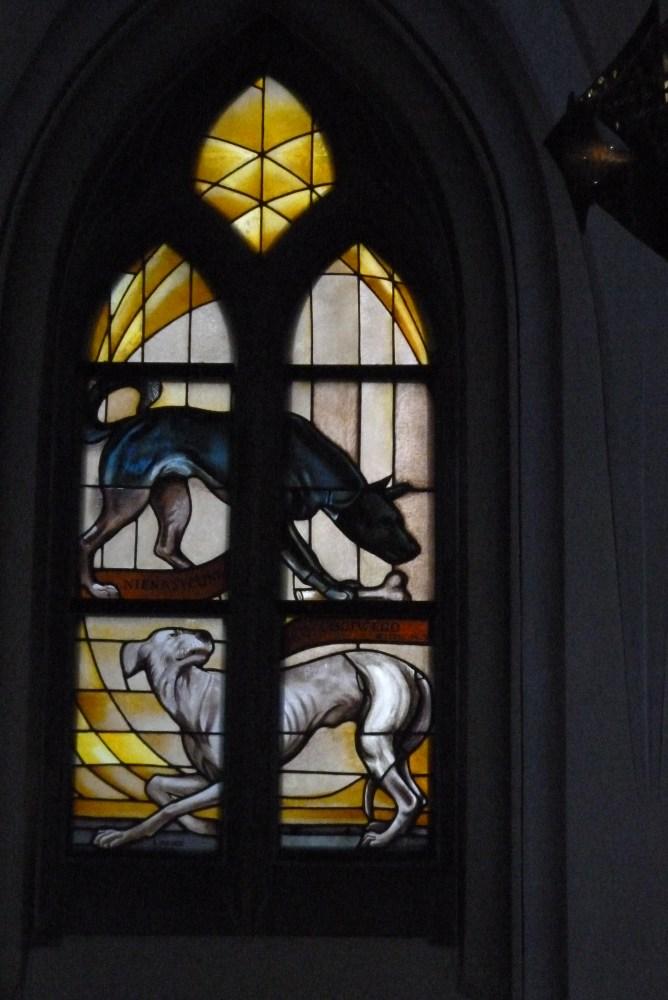 Stained glass windows (vitrage) in St. Mary's Church (Kościół Mariacki) in Katowice (2/6)