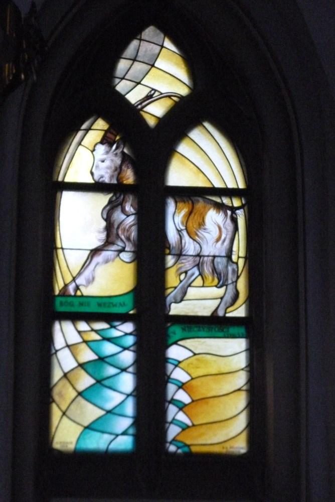 Stained glass windows (vitrage) in St. Mary's Church (Kościół Mariacki) in Katowice (3/6)