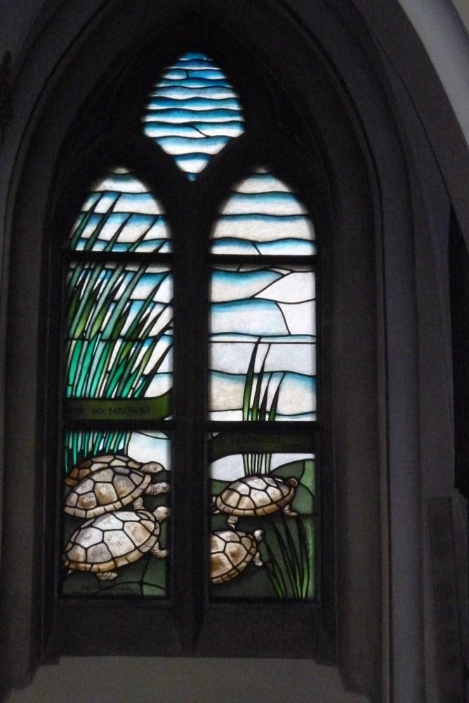 Stained glass windows (vitrage) in St. Mary's Church (Kościół Mariacki) in Katowice (4/6)