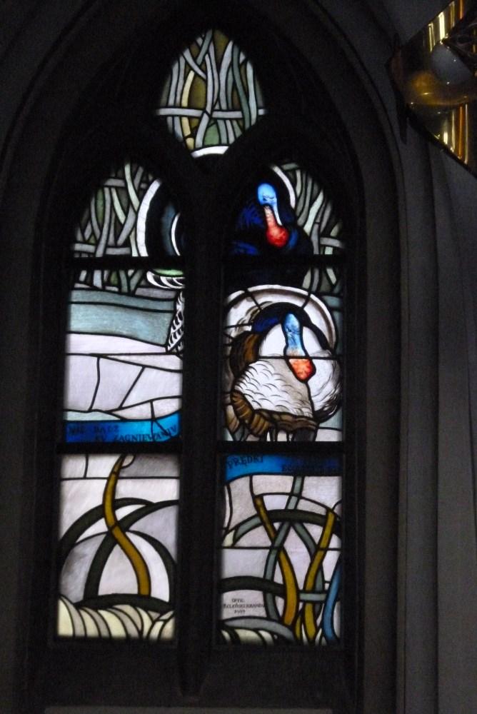 Stained glass windows (vitrage) in St. Mary's Church (Kościół Mariacki) in Katowice (5/6)