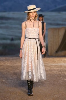Mandatory Credit: Photo by Katie Jones/WWD/REX/Shutterstock (8818801bj) Model on the catwalk Dior Cruise Collection 2018 show, Runway, Los Angeles, USA - 11 May 2017