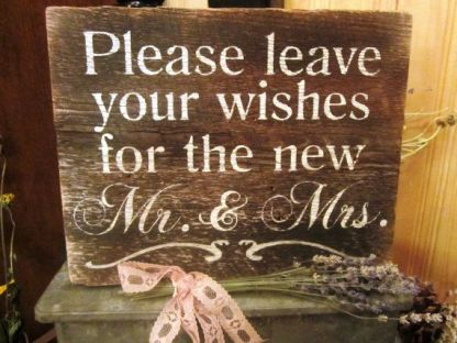 Wedding Wishes Reception