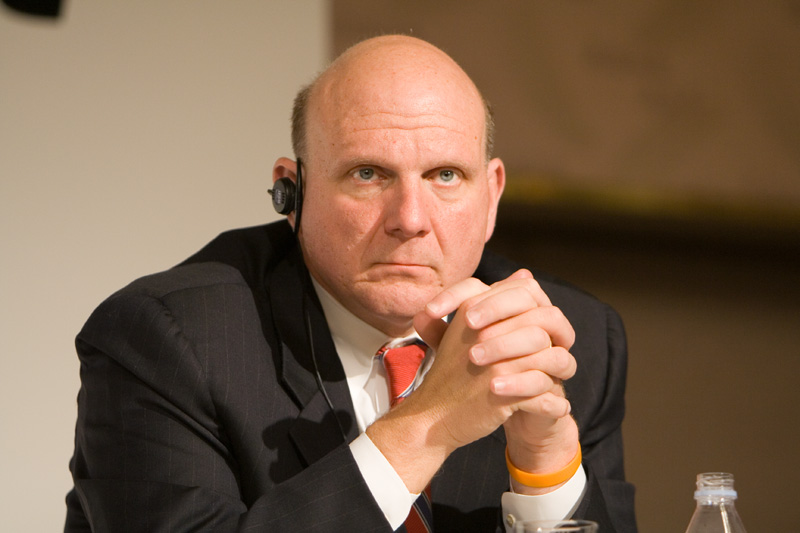 "An upset Steve Ballmer calls Microsoft's revenue report ""bullshit"" while criticizing Satya Nadella on Windows Phone"