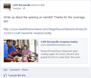 Cafe Reconcile Serves Up Delicious Food and Intelligent Marketing. Mmmm, tasty marketing.