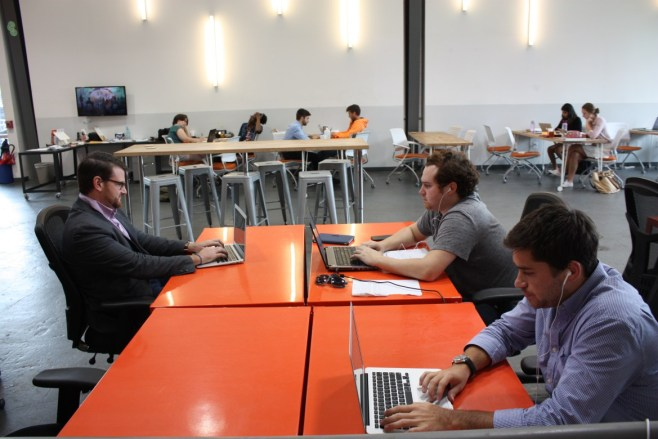 Lalka working alongside social entrepreneurs at Propeller.