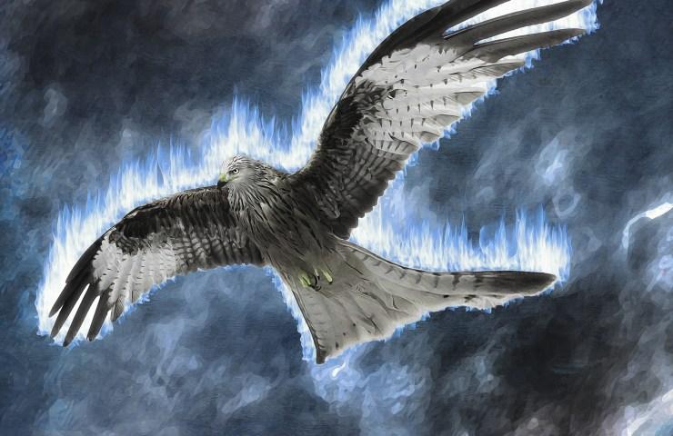 Mystical bird of prey