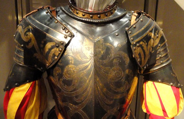 Armour for the Papal Guard of Gregory XIII, c. 1580s (Higgins Armory Museum)