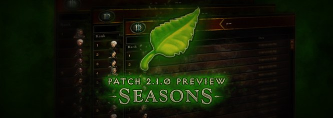 Diablo 3 Patch 2.1 Seasons