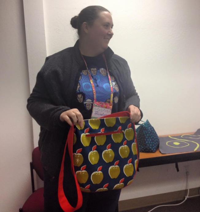 Tricialyn completes another lovely bag.