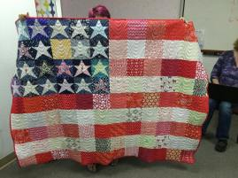 Show and Tell, May 2016%0A%0Astars & Stripes forever! If we ask really nicely maybe @luckycharm93635 Will tell us what the pattern is! I think she said it's available on craftsy! #modernquilting #quilt #quilting by siliconvalleymqg