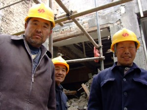 Chinese constr workers
