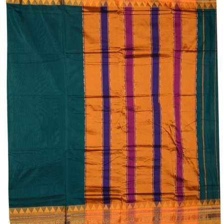 Ilkal Silk by Cotton plane Saree Patti Pallu