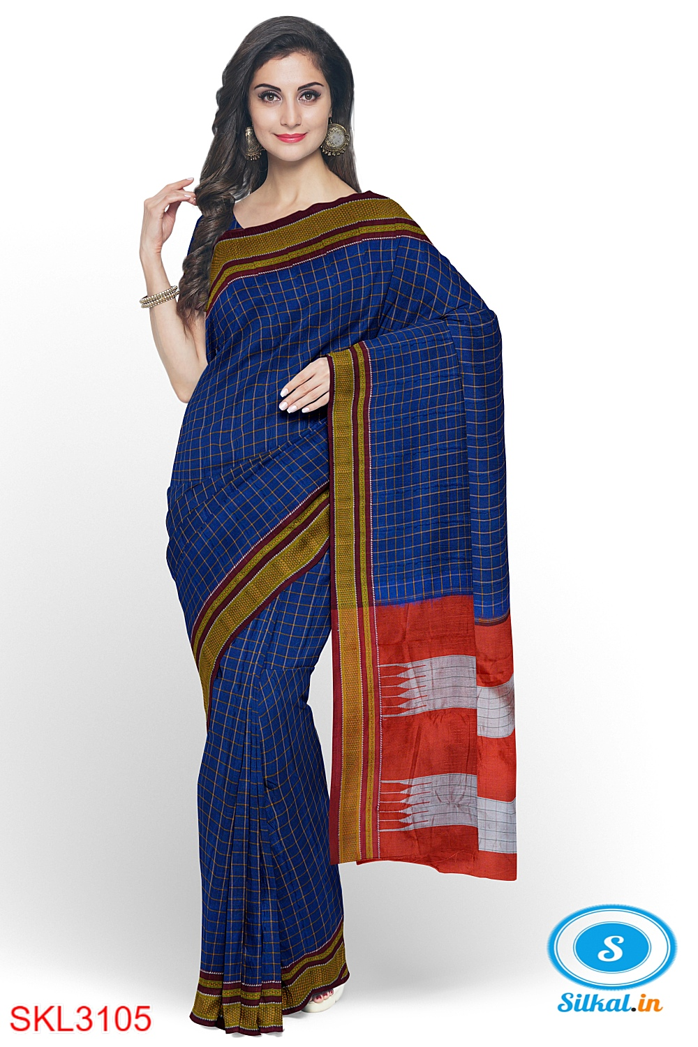 ILKAL HANDLOOM SILK BY MASRISE COTTON SMALL CHACKS CHIKKI PARAS SAREES