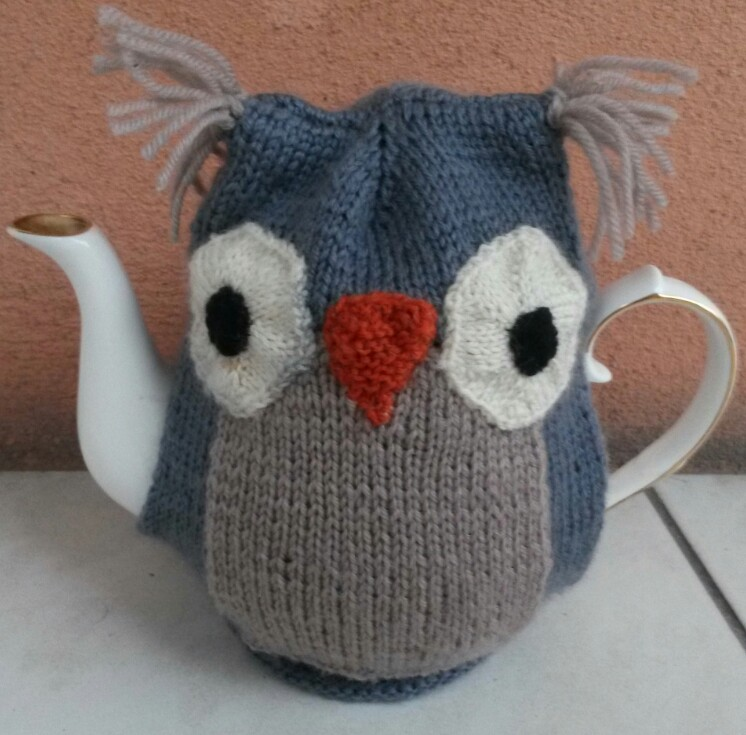 Owl Teapot Cozy Free Knitting Pattern Silk Wool