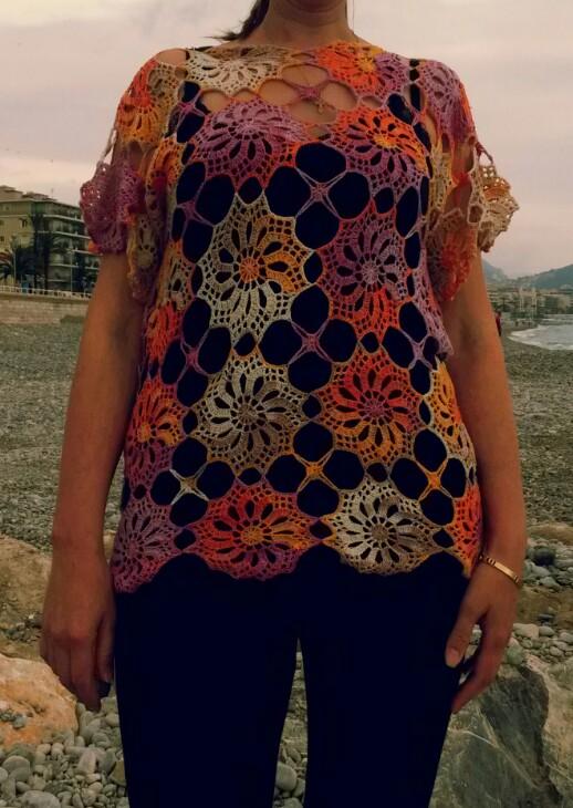 free crochet top pattern - Riviera Skies