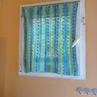 Crochet curtains - Lace Flower Stitch Tutorial
