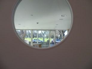 Port Hole Window to Main Entrance