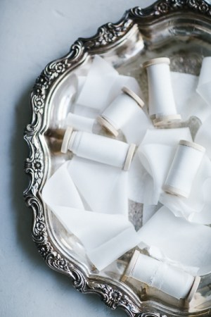 Silk ribbon white