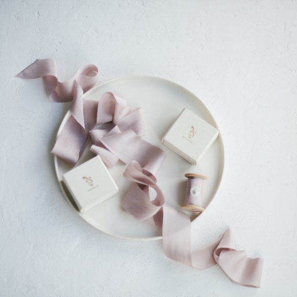 silk ribbon Lavender Fog