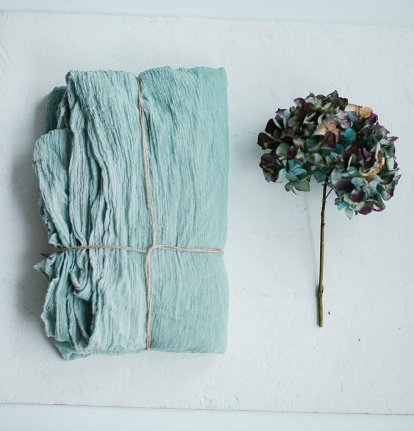 Tischläufer Baumwolle Gauze Neo Mint