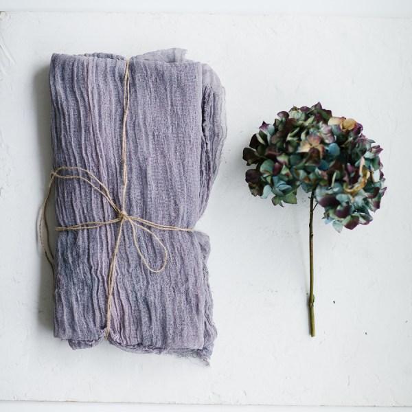 Tischläufer Veilchen Baumwolle Gauze