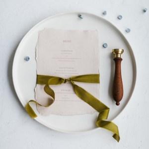 Seidenband Olive Green Papeterie