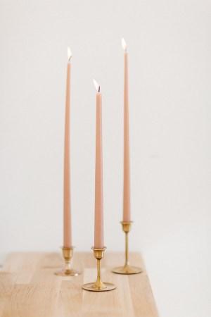 Kerzen Dusty Rose 40cm