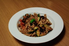 Fusilli with grilled veggies