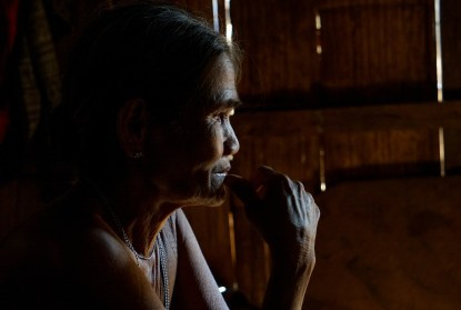 her husband died, they didn't have children - she is left behind, stricken by poverty
