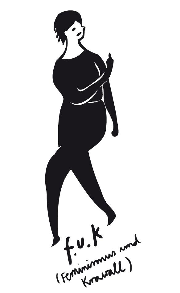 Siebdruck für Feminismus & Krawall | Silke Müller