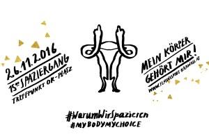 #mybodymychoice - Spaziergang gegen AbtreibungsgegnerInnen, Illustration: Silke Müller
