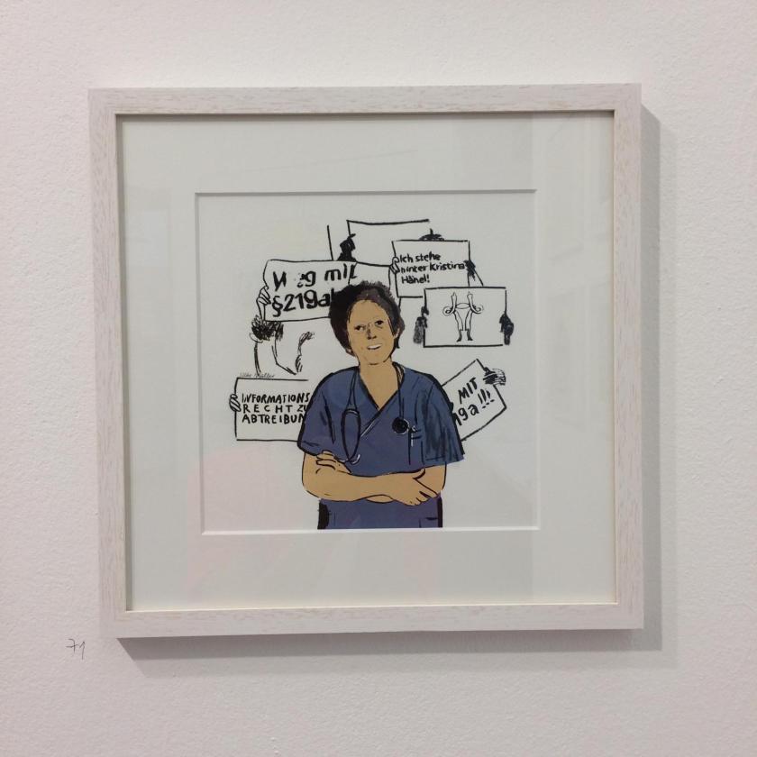 Kristina Händel - Illustration: Silke Müller |100 Frauen und 100 Jahre Frauenwahlrecht in Deutschland und Österreich | Ausstellung | Foto: Tine Schulz