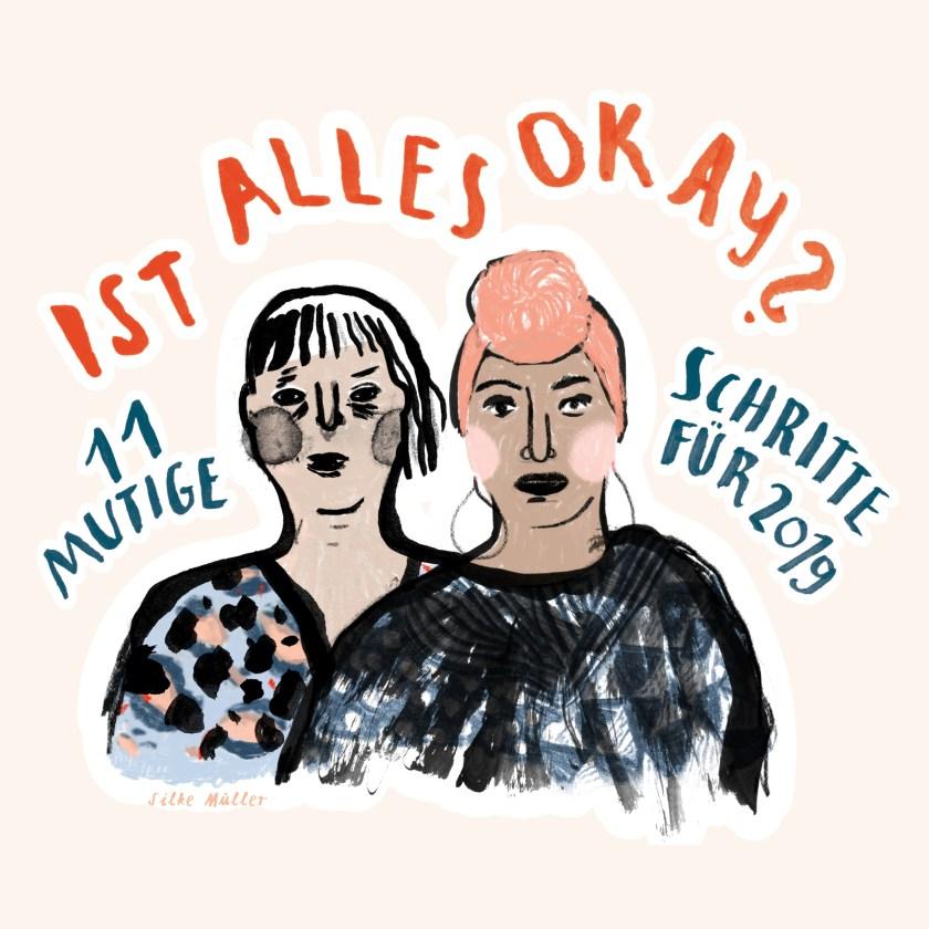 Alles Okay? - Kalender zur Zivilcourage 2019, Comic· Illustration © Silke Müller, Linz